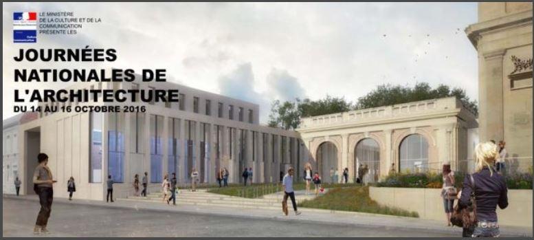 Rendez-vous du 14 au 16 Octobre pour les premières journées nationales de l'Architecture